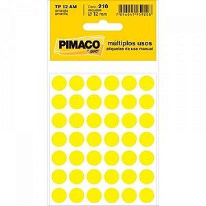 Etiqueta cartela color TP-12 amarela Pimaco c/210
