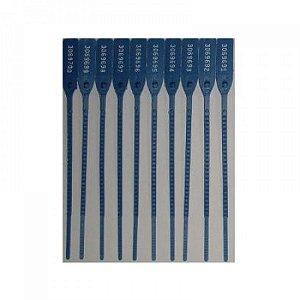 Lacre p/ malote 23cm azul pct c/100 un Helomax