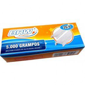 Grampo 26/6 galvanizado cx. c/5000 BRW