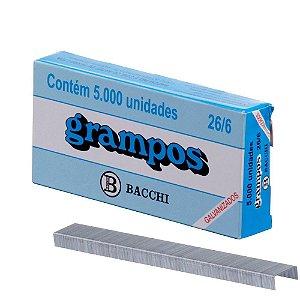 Grampo 26/6 galvanizado cx. c/5000 Bacchi