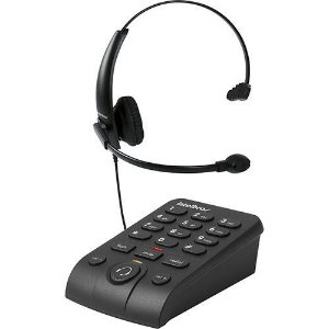 Telefone Headset preto Intelbras HSB50