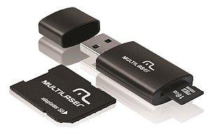 Kit 3 em 1 - Pen Drive + Adaptador SD + Cartão de Memória 16GB Multilaser MC112