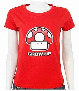 Blusinha Cogumelo GrowUP (Mario Bros)