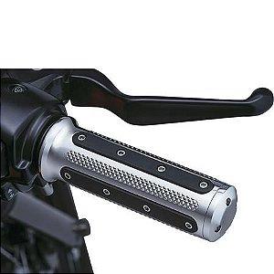 Manopla Cromada Modelo Heavy Harley Davidson 2008-2017 Com Acelerador Eletrônico