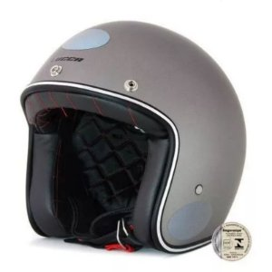 Capacete Lucca Custom Old Matt Metallic Grey - Tam 60