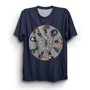 Camiseta Básica Banda Metal Slipknot Bonecos