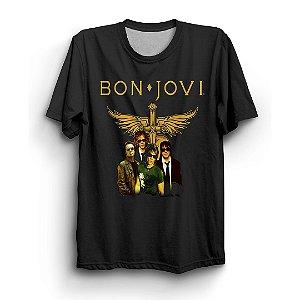 Camiseta Básica Banda Bon Jovi Integrantes
