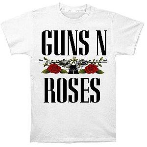 Camiseta Básica Banda Rock Guns N' Roses Logo