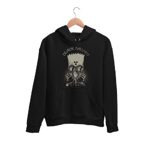 Moletom Canguru Banda Heavy Metal Black Sabbath Bart Simpson