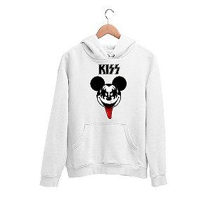 Moletom Canguru Mickey Mouse Banda Kiss