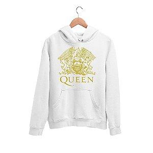 Moletom Canguru Banda Queen Logo Gavião Dourado