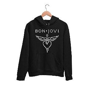 Moletom Canguru Banda Bon Jovi Logo
