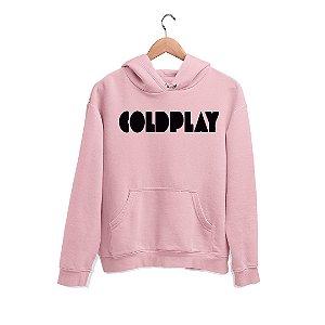 Moletom Canguru Logo Nome Banda Coldplay