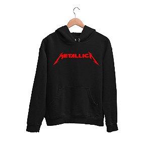 Moletom Canguru Logo Banda Metallica