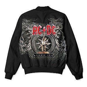 Jaqueta Bomber Com Bolsos Banda Rock AC/DC