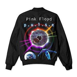 Jaqueta Bomber Com Bolsos Banda Pink Floyd Álbum Pulse