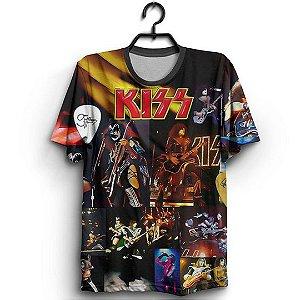 Camiseta Full 3D Banda Kiss Show Integrantes
