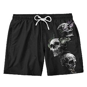 Bermuda Short Praia 3 caveiras Skull