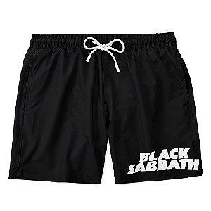 Bermuda Short Praia Logo Banda Black Sabbath