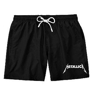 Bermuda Short Praia Logo Banda Heavy Metal Metallica