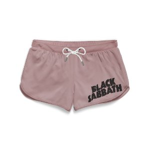 Short Praia Feminino Logo Banda Black Sabbath