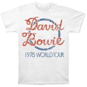 Camiseta Básica David Bowie 1978 World Tour