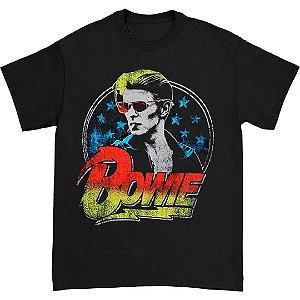 Camiseta Básica Cantor Rock David Bowie