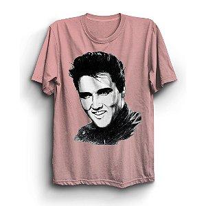 Camiseta Básica Esboço Rei do Rock Cantor Elvis Presley