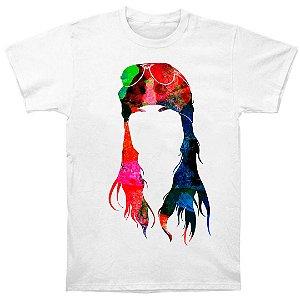 Camiseta Básica Sombra Colorida Cantor Axl Rose Integrante Guns N' Roses