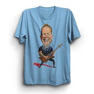 Camiseta Básica Caricatura James Hetfield Cantor Banda Metallica