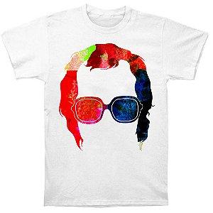 Camiseta Básica Sombra Colorida Cantor Elton John