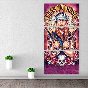 Painel Quadro Médio 3 Telas Cantor Axl Rose Integrante Guns N' Roses