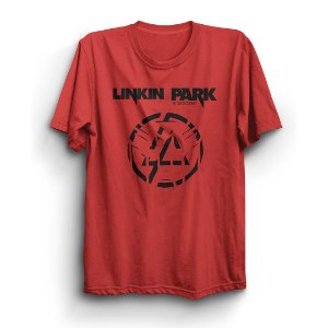 Camiseta Básica Logo Banda Linkin Park Rock and Roll