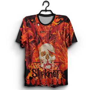 Camiseta Full 3D Poster Banda Rock Slipknot