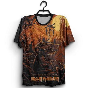 Camiseta 3D Full Banda Iron Maiden Hallowed Be Thy Name
