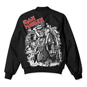 Jaqueta Bomber Com Bolsos Banda Heavy Metal Iron Maiden