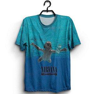 Camiseta 3D Full Álbum Nervermind Banda Rock Nirvana