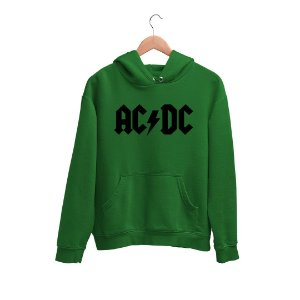 Moletom Canguru Logo Preto Banda AC/DC