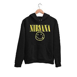 Moletom Canguru Logo Banda Nirvana