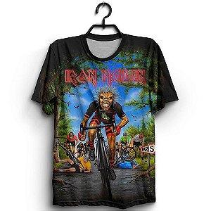 Camiseta 3D Full Banda Iron Maiden Legacy of the Beast World Tour Europan 2018