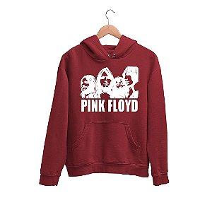 Moletom Canguru Integrantes Banda Rock Pink Floyd