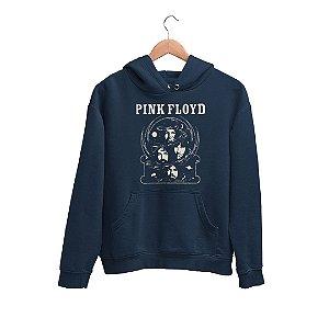 Moletom Canguru Integrantes Pink Floyd na Bola de Cristal