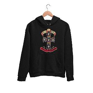 Moletom Canguru Banda Guns N' Roses Logo Appetite for Destruction