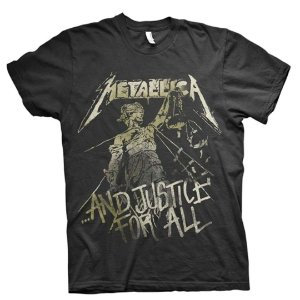 Camiseta Básica Banda Heavy Metal Metallica And Justice For All