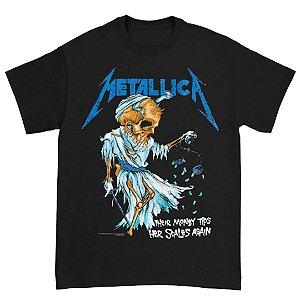 Camiseta Básica Banda Heavy Metal Metallica Their Money Tips