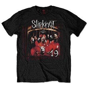 Camiseta Básica Banda Heavy Metal Slipknot Debut Album 19 Years