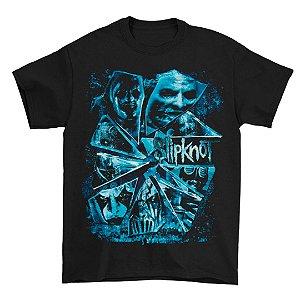 Camiseta Básica Banda Heavy Metal Slipknot Shattered Glass 2015 Tour