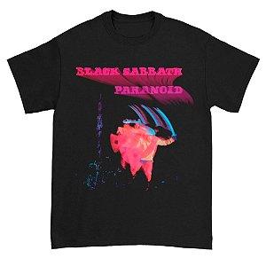 Camiseta Básica Banda Heavy Metal Black Sabbath Paranoid