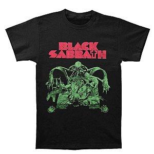 Camiseta Básica Banda Heavy Metal Black Sabbath Bloody Sabbath