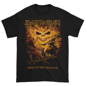 Camiseta Básica Banda Heavy Metal Iron Maiden Ghost Of The Navigator
